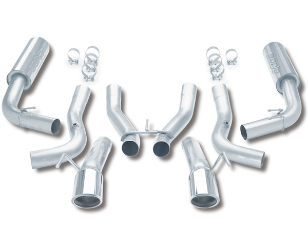 Borla S-Type Cat-Back Exhaust System 1996-2002 Dodge Viper GTS/R/T-10, 10cyl 6spd RWD (8.0L)