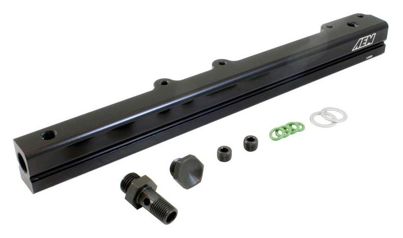 AEM 96-00 Civic CX/DX/LX/EX & 96-97 Del Sol S/Si Black Fuel Rail