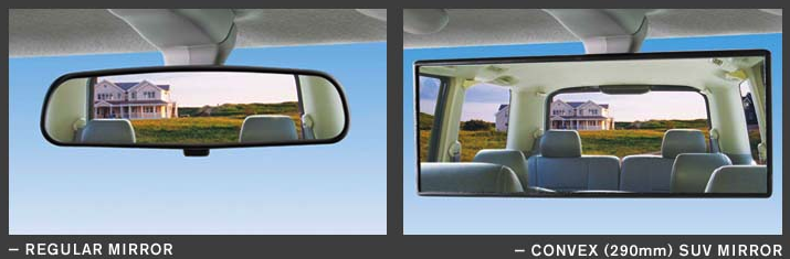 Broadway Mirrors 800 Series SUV 290mm Convex