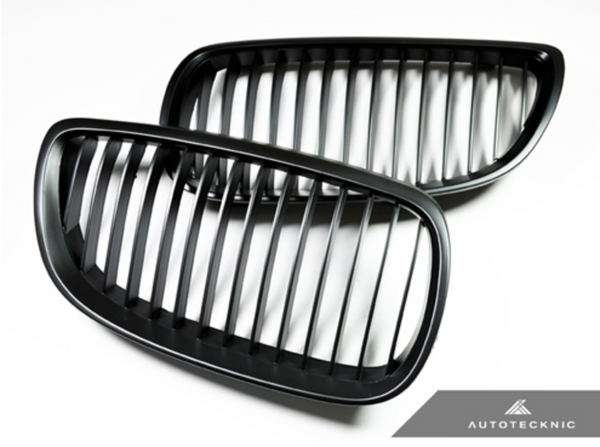 Autotecknic Replacement Stealth Black Front Grilles BMW E92/ E93 3-Series Coupe/ Cabrio (including E9X M3)