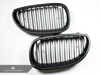 Autotecknic Replacement Stealth Black Front Grilles BMW E60 Sedan / E61 Wagon | 5 Series