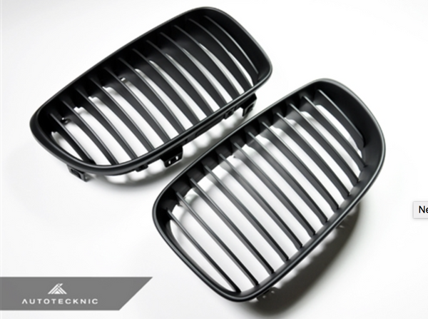 Autotecknic Replacement Stealth Black Front Grilles BMW E82 Coupe / E88 Cabrio | 1 Series
