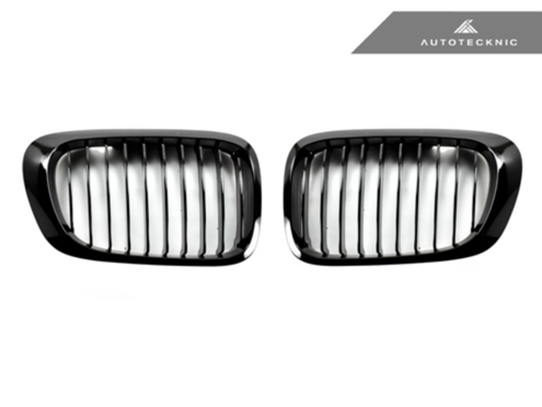 Autotecknic Replacement Glazing Black Front Grilles BMW E46 Coupe | 3 Series (pre-facelift)