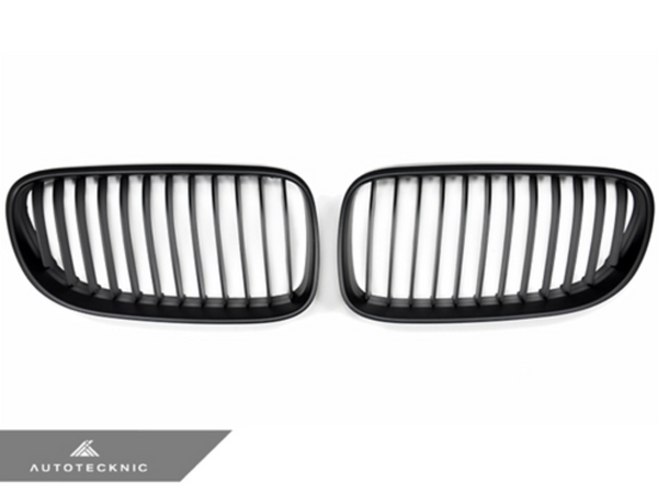Autotecknic Replacement Stealth Black Front Grilles BMW E92 Coupe / E93 Cabrio | 3 Series LCI