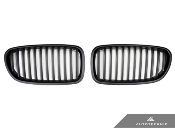 Autotecknic Replacement Stealth Black Front Grilles BMW F10 Sedan / F11 Wagon | 5 Series & M5