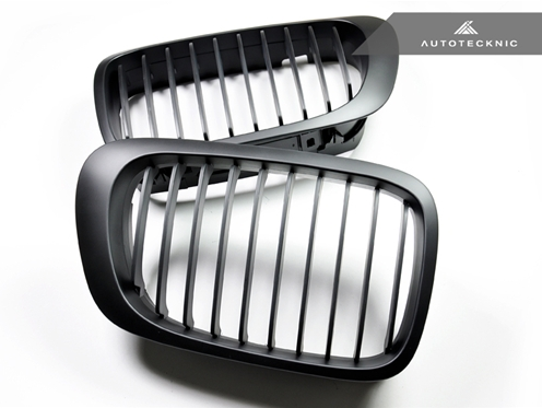Autotecknic Replacement Stealth Black Front Grilles BMW E46 Coupe | 3 Series (pre-facelift)
