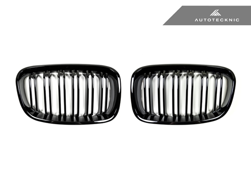 Autotecknic Replacement Dual-Slats Glazing Black Front Grilles BMW F20 1-Series
