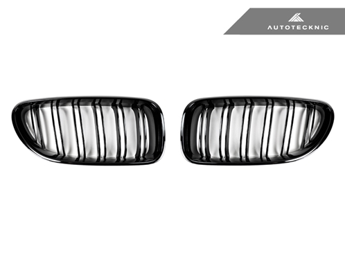 AutoTecknic Replacement Dual-Slats Glazing Black Front Grilles BMW F06 Gran Coupe / F12 Coupe / F13 Cabrio | 6 Series & M6