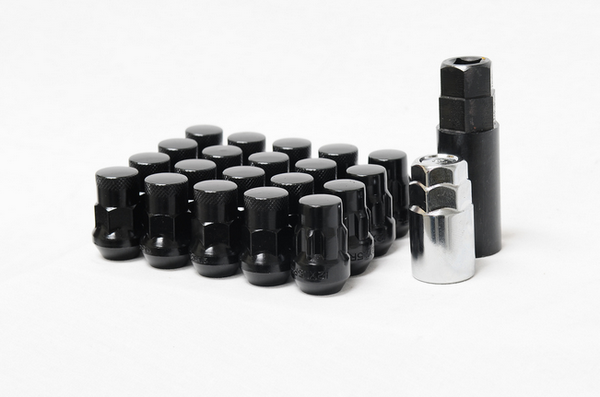 Muteki SR35 Closed End Lug Nut / Lock Set 12x1.50 Black (20 Piece Kit) 35mm Tall