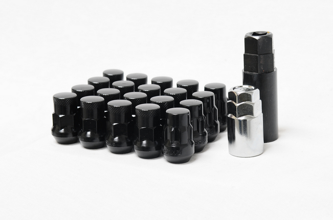 Muteki SR35 Closed End Lug Nut / Lock Set 12x1.25 Black (20 Piece Kit) 35mm Tall