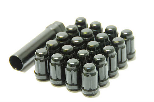 Muteki Closed End Lug Set 12x1.25 Black (20 Piece Kit)