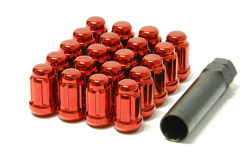 Muteki Closed End Lug Set 12x1.25 Red (20 Piece Kit)
