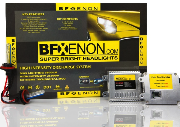BF Xenon HID 9005 / H10 / 9140 / 9145 - Premium OEM HID Xenon Headlight Kit - LIFETIME WARRANTY