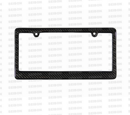 Seibon Carbon Fiber License Plate Frame (2 Hole)