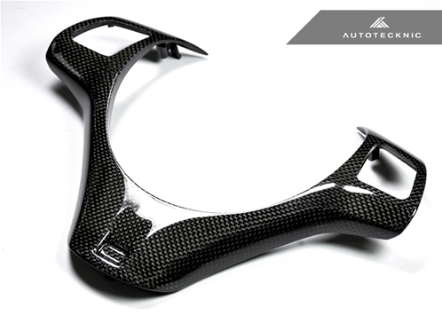 AutoTecknic Carbon Fiber Steering Wheel Trim - E9X M3 | E82 1M Coupe