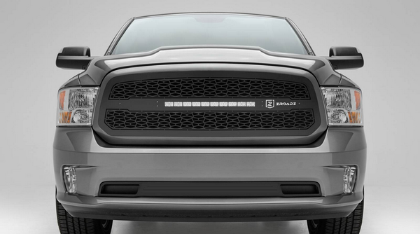 T-Rex ZROADZ Series 2013-2016 Dodge Ram 1500 LED Lighted Grille w/ One 20 Inch Slim single row 2pc Grille (Black)