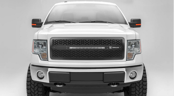 T-Rex ZROADZ Series 2009-2012 Ford F150 LED Lighted Grille w/ One 20 Inch Slim single row 2pc Grille (Black)