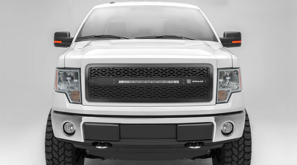 T-Rex ZROADZ Series 2013-2014 Ford F150 LED Lighted Grille w/ One 20 Inch Slim single row 2pc Grille (Black)