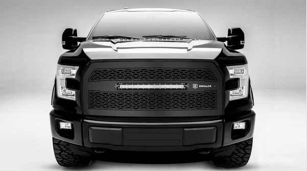 T-Rex ZROADZ Series 2015-2016 Ford F150 w/ Forward Facing Camera, LED Lighted Grille w/ One 20 Inch Slim single row 2pc Grille (Black)