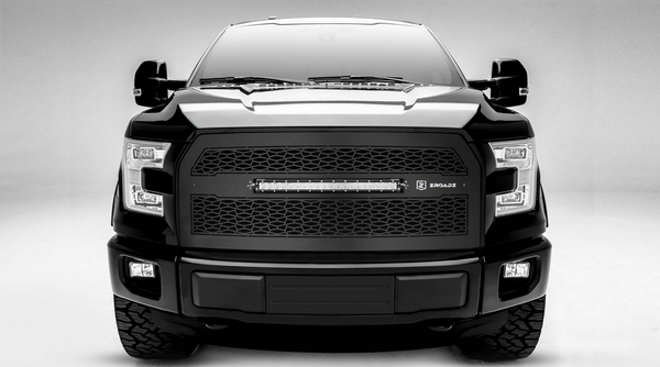 T-Rex ZROADZ Series 2015-2016 Ford F150 w/o Forward Facing Camera, LED Lighted Grille w/ One 20 Inch Slim single row 2pc Grille (Black)