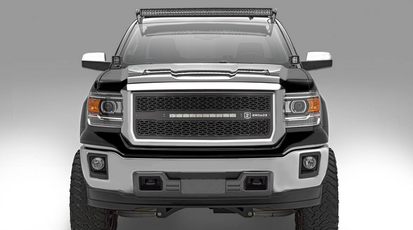 T-Rex ZROADZ Series 2014-2015 GMC Sierra 1500 LED Lighted Grille w/ One 20 Inch Slim single row 2pc Grille (Black)