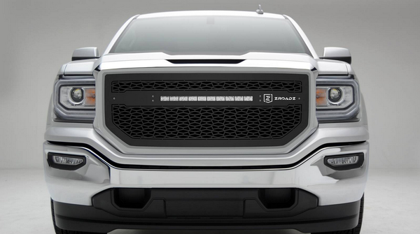T-Rex ZROADZ Series 2016-2017 GMC Sierra 1500 LED Lighted Grille w/ One 20 Inch Slim single row 2pc Grille (Black)