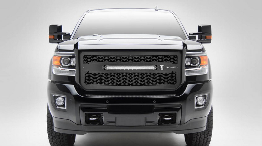 T-Rex ZROADZ Series 2015-2016 GMC Sierra HD 2500/3500 LED Lighted Grille w/ One 20 Inch Slim single row 2pc Grille (Black)