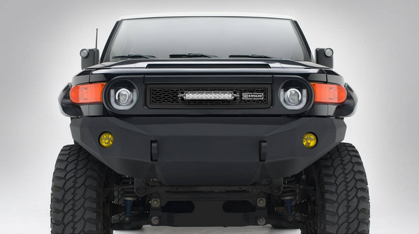 T-Rex ZROADZ Series 2007-2013 Toyota FJ Cruiser LED Lighted Grille w/ One 10 Inch Slim single row Main Insert (Black)
