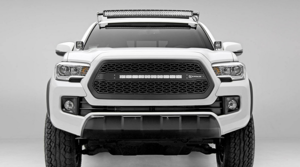 T-Rex ZROADZ Series 2016-2017 Toyota Tacoma LED Lighted Grille w/ One 20 Inch Slim single row Main Insert (Black)