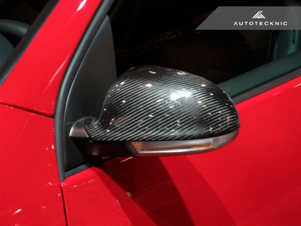 AutoTecknic Add-On Dry Carbon Fiber Mirror Covers - VW MKV Jetta/ Golf