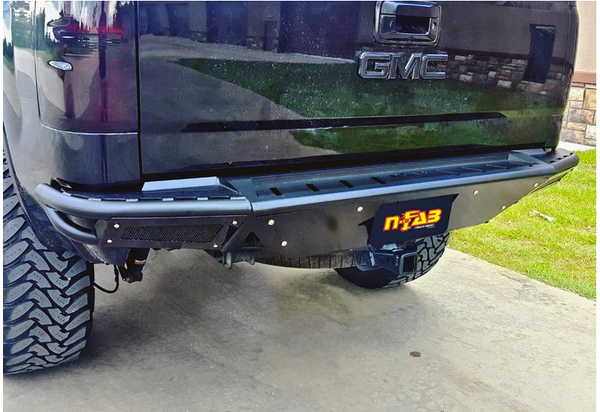N Fab 2007-13 Chevy - GMC 1500 R.B.S. Rear Pre-Runner Bumper with Skid Plate