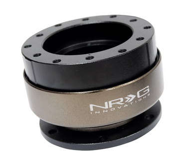 NRG Gen 2.0 Black/Titanium Ring Steering Wheel Quick Release (SFI SPEC 42.1 certified)