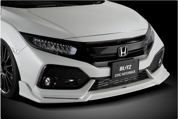 Blitz Front Air Lip 2017-2018 Honda Civic Hatchback FK7 (unpainted)