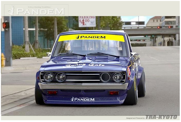 Pandem Front Lip & Over Fender Aero Kit 1972-1979 Datsun 620 Pickup