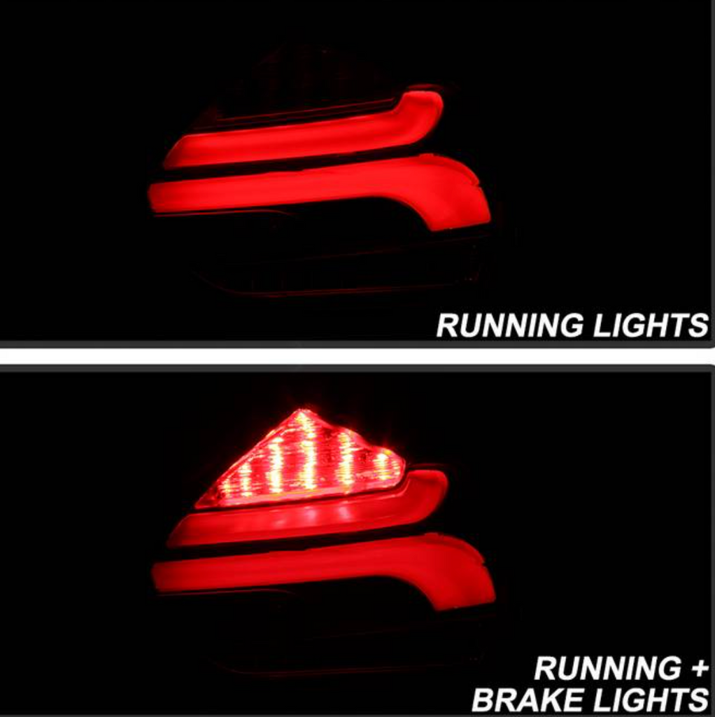 2015-2017 Ford Focus 5Dr Hatchback LED Tail Lights - Red Clear