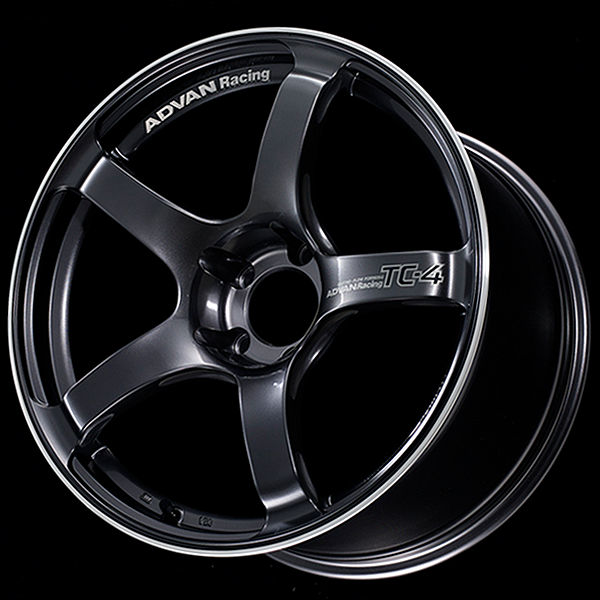 18x9.5 Advan TC4 +12 Offset Racing Gunmetallic (5x114.3)
