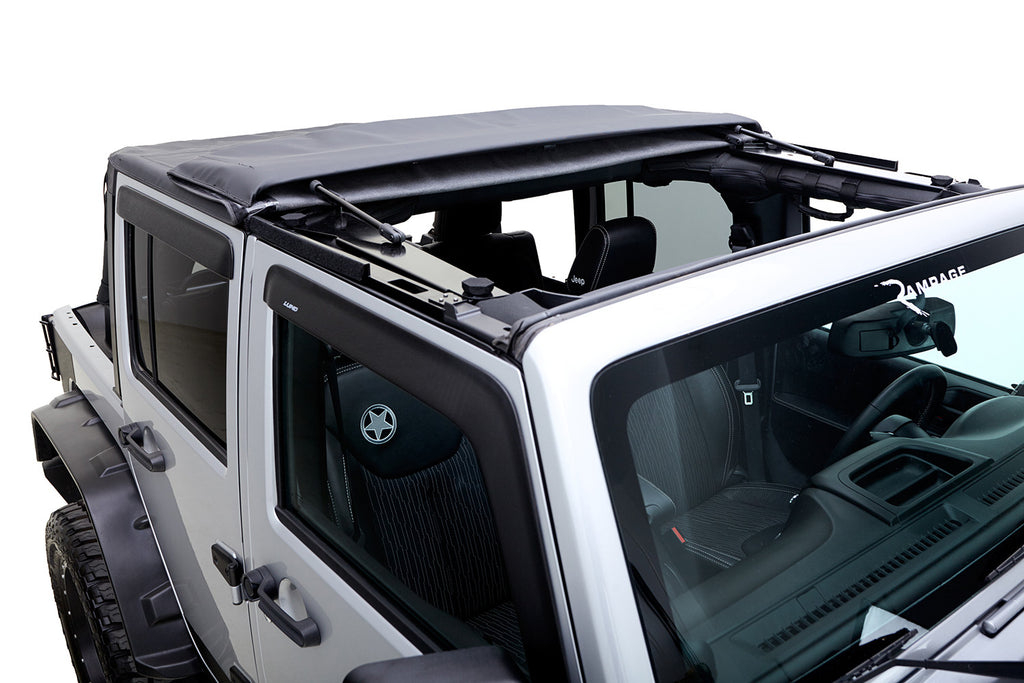 2007-2016 Jeep Wrangler Trailview Soft Top fold-back sunroof