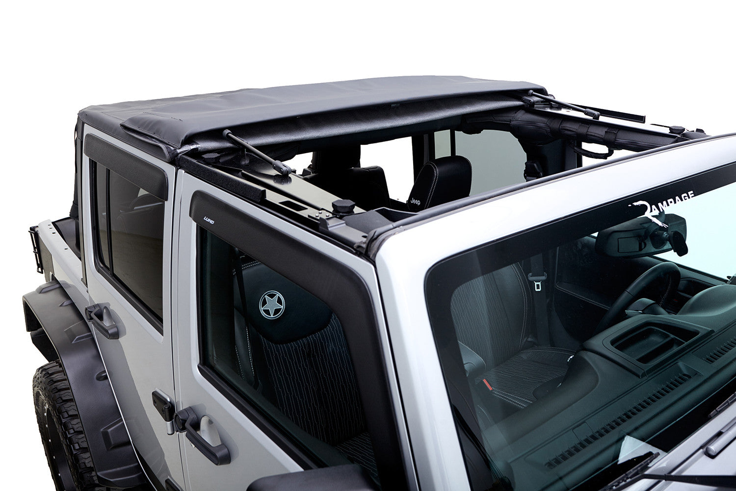2007 2016 Jeep Wrangler Trailview Soft Top Fold Back