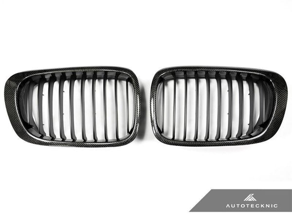 AutoTecknic Replacement Carbon Fiber Front Grilles BMW E46 Coupe | 3 Series (pre-facelift) including M3