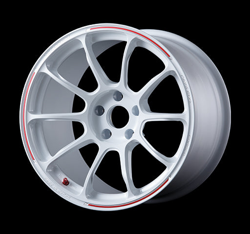 18x9.5 Volk Racing ZE40 5x120 +46mm (Dash White/Redot)