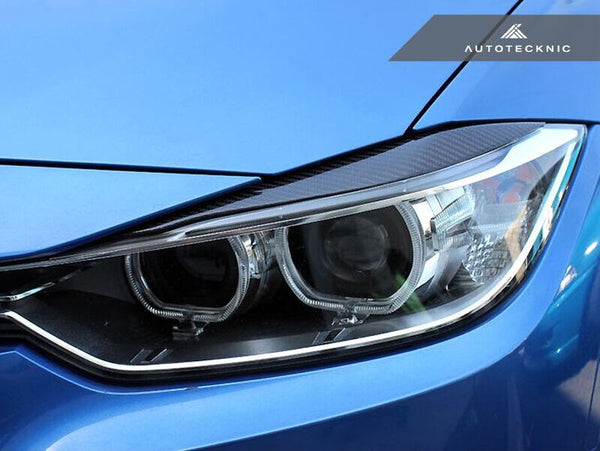 Autotecknic Carbon Fiber Headlight Covers BMW F30 3 Series Sedan | F31 3 Series Wagon
