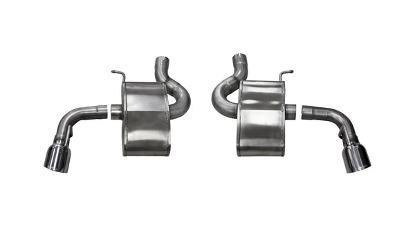 Corsa Performance Polished Xtreme Axle-Back Exhaust 2.75in 2016 Chevrolet Camaro SS 6.2L V8 Dual Rear Exit Single Tip