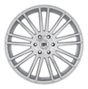 Black Rhino Kruger 20x9.0 5x150 ET25 CB 110.1 Silver w/Mirror Cut Face Wheel