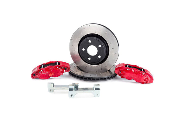 Alcon Big Brake Kit 350x32mm Rotors 6-Piston Red Calipers 2018+ Jeep Wrangler