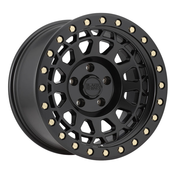 Black Rhino Primm 18x9.5 8x165 ET00 CB 122.1 Matte Black w/Brass Bolts Wheel
