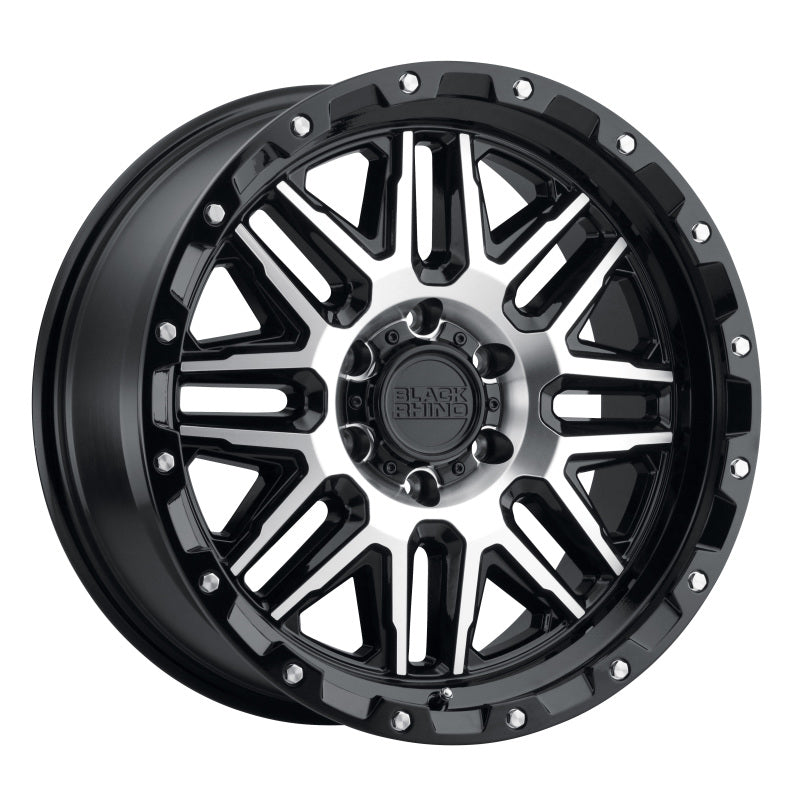 Black Rhino Alamo 18x9.0 5x139.7 ET02 CB 78.1 Gloss Black w/Machined Face & Stainless Bolts Wheel