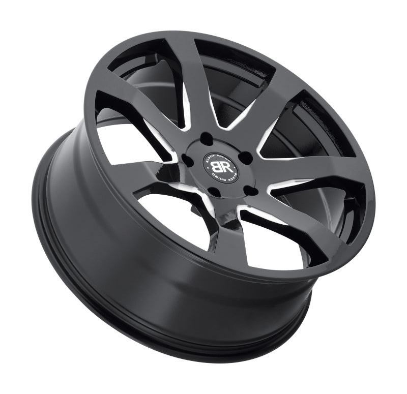 Black Rhino Mozambique 18x8.5 5x114.3 ET35 CB 76.1 Gloss Black w/Milled Spokes Wheel