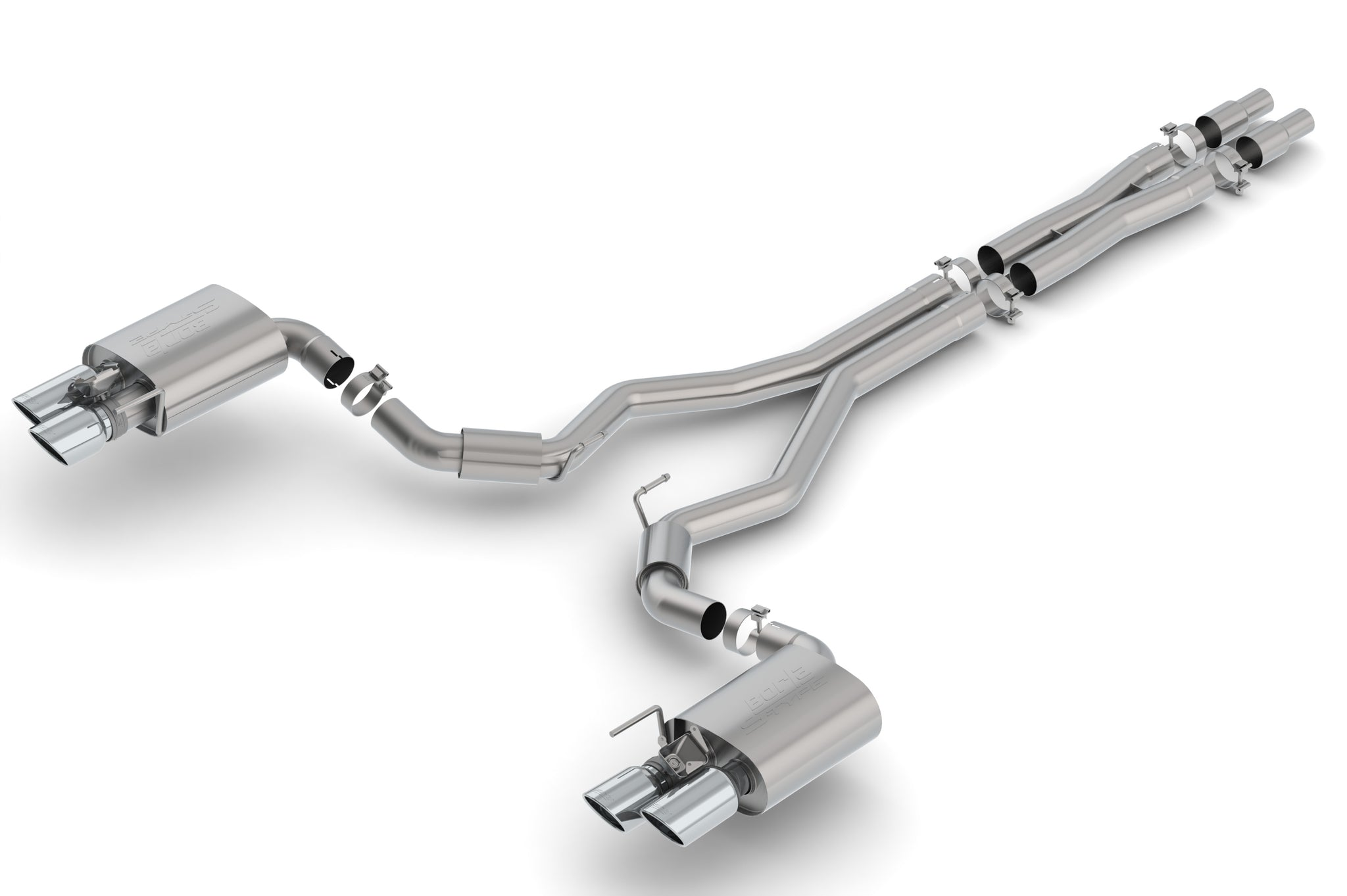 Borla Atak Cat Back Exhaust System W Valves 2015 2018 Ford Mustang