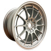 18x9.5 Enkei Racing NT03+M Ford Focus RS Fitment F1 Silver (5x108)