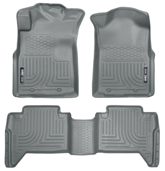 Husky Liners WeatherBeater Floor Liners 2005-2014 Toyota Tacoma Double Cab (Front & Rear)
